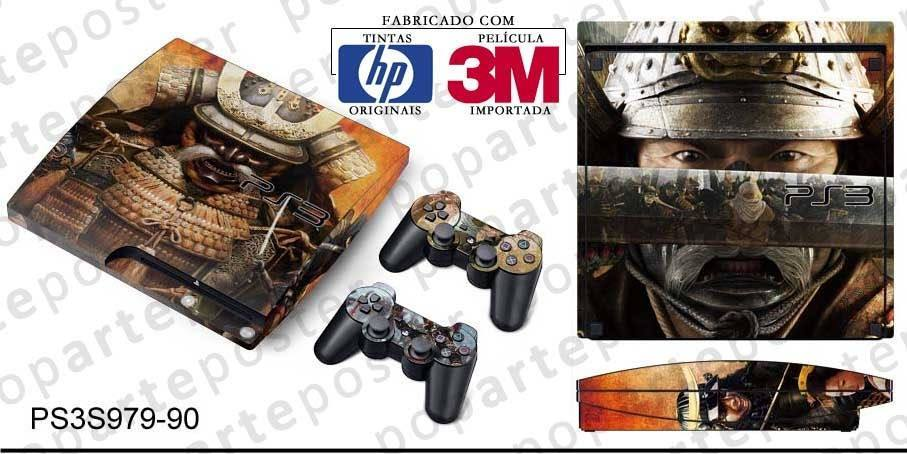 PS3 SLIM SKIN - PS3 SLIM SKIN - Shogun 2 Total War - Pop Arte Skins Adesivos