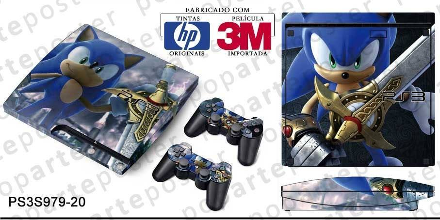 PS3 SLIM SKIN - PS3 SLIM SKIN - Sonic and the Black Knight - Pop Arte Skins Adesivos