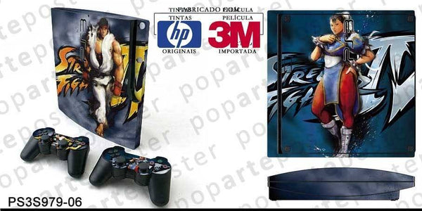 PS3 SLIM SKIN - PS3 SLIM SKIN - Street Fighter 4 - Pop Arte Skins Adesivos