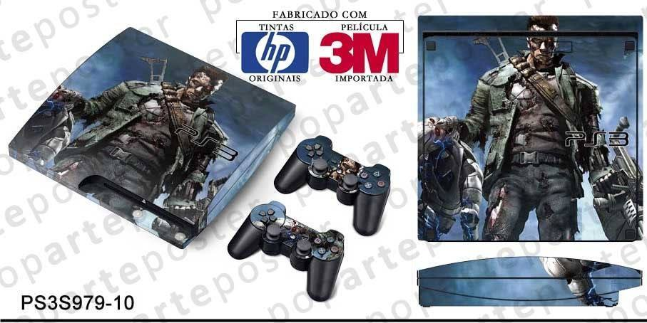 PS3 SLIM SKIN - PS3 SLIM SKIN - Terminator 3 The Redemption - Pop Arte Skins Adesivos