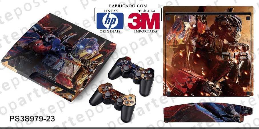 PS3 SLIM SKIN - PS3 SLIM SKIN - Transformers Revenge of the Fallen - Pop Arte Skins Adesivos