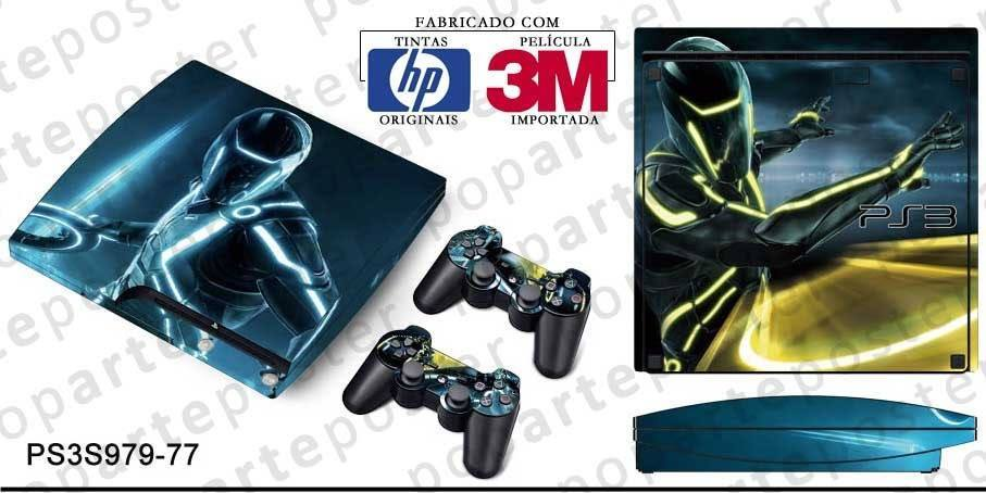 PS3 SLIM SKIN - PS3 SLIM SKIN - Tron Evolution - Pop Arte Skins Adesivos
