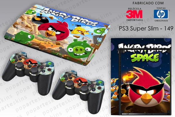 PS3 SUPER SLIM SKIN - PS3 SUPER SLIM SKIN - Angry Birds - Pop Arte Skins Adesivos