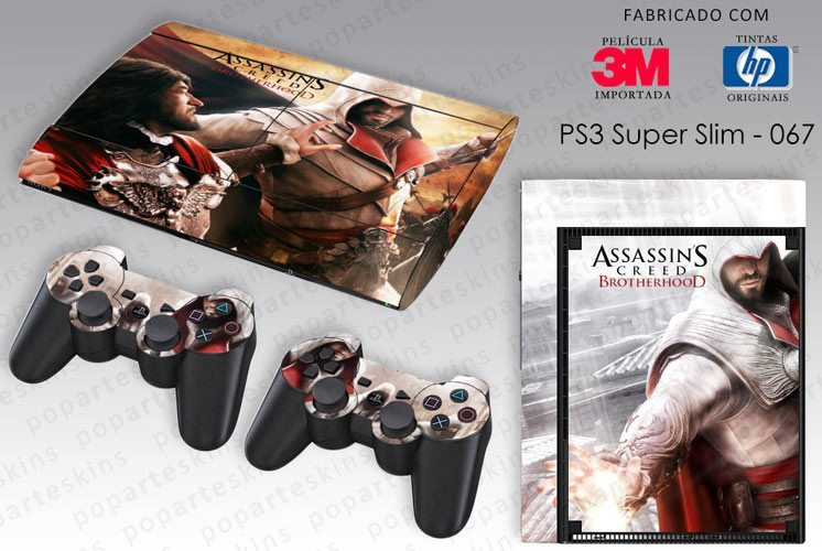 PS3 SUPER SLIM SKIN - PS3 SUPER SLIM SKIN - Assassins Creed Brotherhood - Pop Arte Skins Adesivos