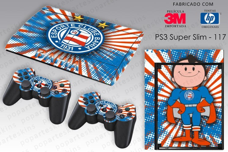 PS3 SUPER SLIM SKIN - PS3 SUPER SLIM SKIN - Bahia - Pop Arte Skins Adesivos