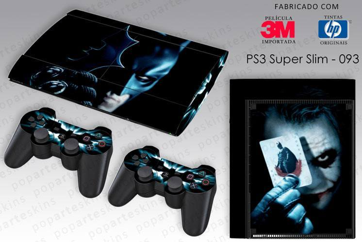PS3 SUPER SLIM SKIN - PS3 SUPER SLIM SKIN - Batman - The Dark Knight - Pop Arte Skins Adesivos