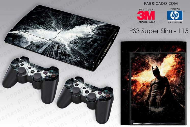PS3 SUPER SLIM SKIN - PS3 SUPER SLIM SKIN - Batman - The Dark Knight Rises - Pop Arte Skins Adesivos