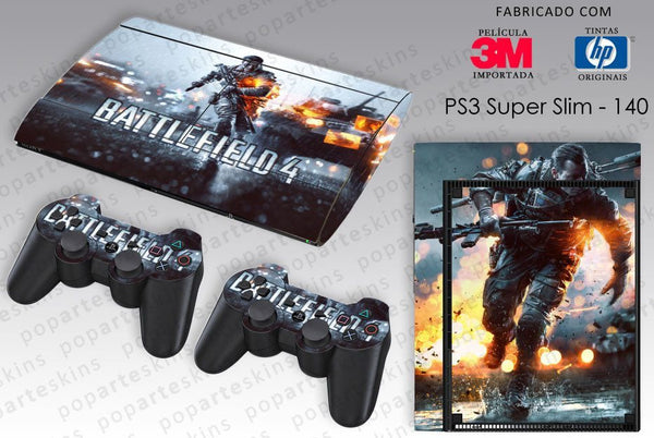 PS3 SUPER SLIM SKIN - PS3 SUPER SLIM SKIN - Battlefield 4 - Pop Arte Skins Adesivos