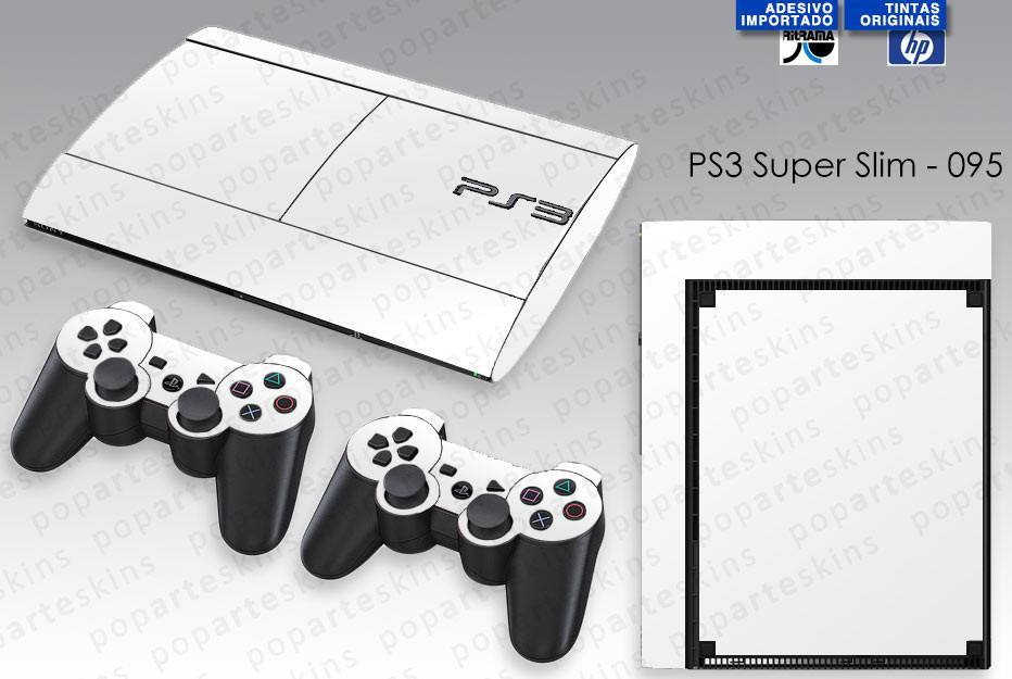 PS3 SUPER SLIM SKIN - PS3 SUPER SLIM SKIN - Branco - Pop Arte Skins Adesivos