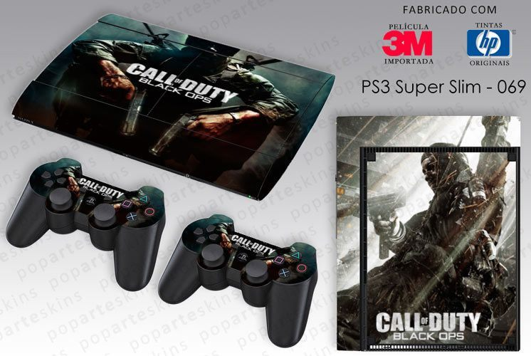 PS3 SUPER SLIM SKIN - PS3 SUPER SLIM SKIN - Call of Duty Black Ops - Pop Arte Skins Adesivos