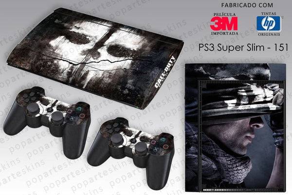 PS3 SUPER SLIM SKIN - PS3 SUPER SLIM SKIN - Call of Duty Ghosts - Pop Arte Skins Adesivos
