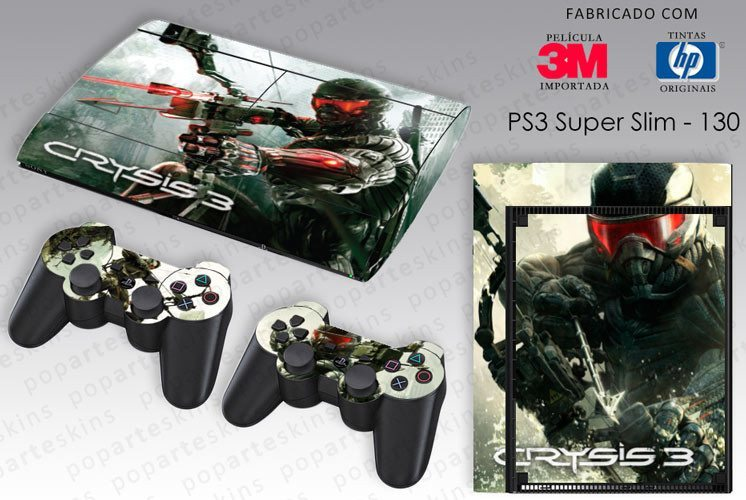 PS3 SUPER SLIM SKIN - PS3 SUPER SLIM SKIN - Crysis 3 - Pop Arte Skins Adesivos