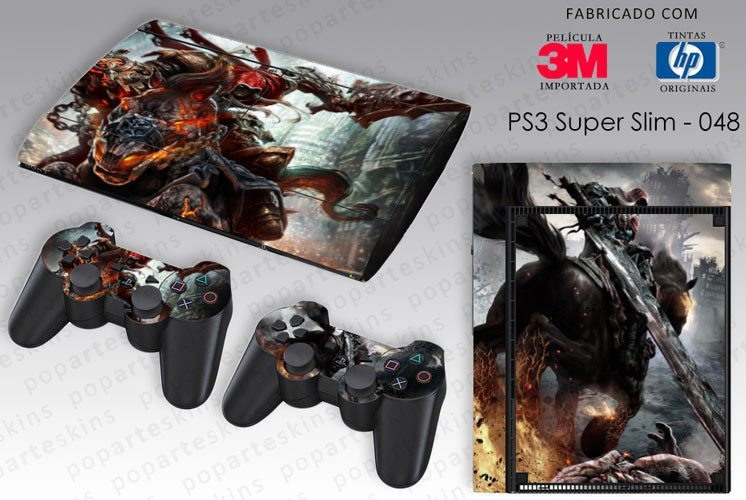 PS3 SUPER SLIM SKIN - PS3 SUPER SLIM SKIN - Darksiders Wrath of War - Pop Arte Skins Adesivos