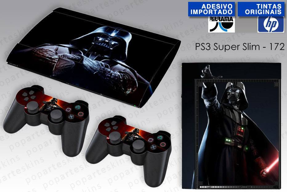 PS3 SUPER SLIM SKIN - PS3 SUPER SLIM SKIN - Darth Vader - Pop Arte Skins Adesivos