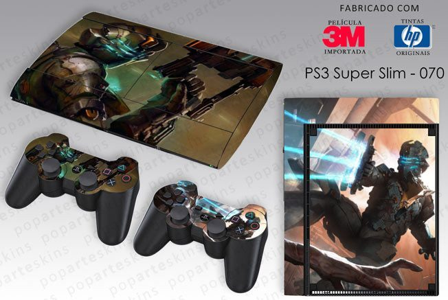 PS3 SUPER SLIM SKIN - PS3 SUPER SLIM SKIN - Dead Space 2 - Pop Arte Skins Adesivos