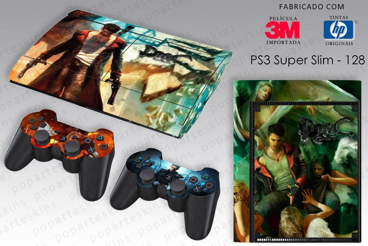 PS3 SUPER SLIM SKIN - PS3 SUPER SLIM SKIN - Devil May Cry - Pop Arte Skins Adesivos