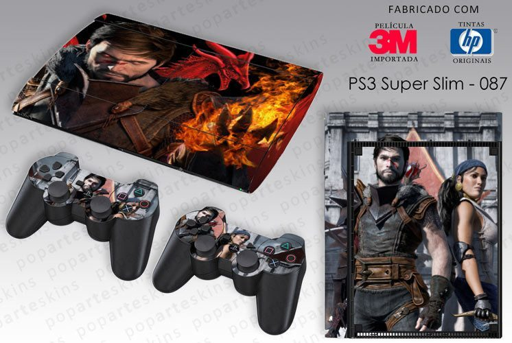 PS3 SUPER SLIM SKIN - PS3 SUPER SLIM SKIN - Dragon Age 2 - Pop Arte Skins Adesivos