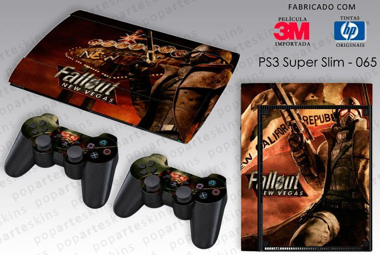 PS3 SUPER SLIM SKIN - PS3 SUPER SLIM SKIN - Fallout New Vegas - Pop Arte Skins Adesivos