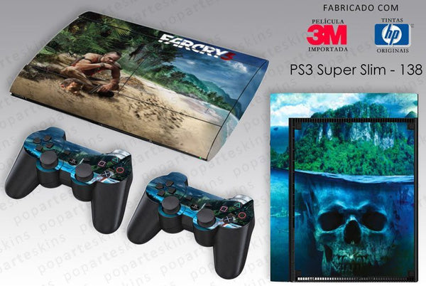 PS3 SUPER SLIM SKIN - PS3 SUPER SLIM SKIN - Far Cry 3 - Pop Arte Skins Adesivos