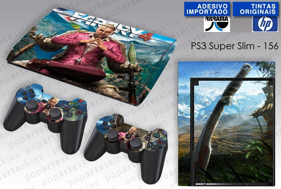 PS3 SUPER SLIM SKIN - PS3 SUPER SLIM SKIN - Far Cry 4 - Pop Arte Skins Adesivos