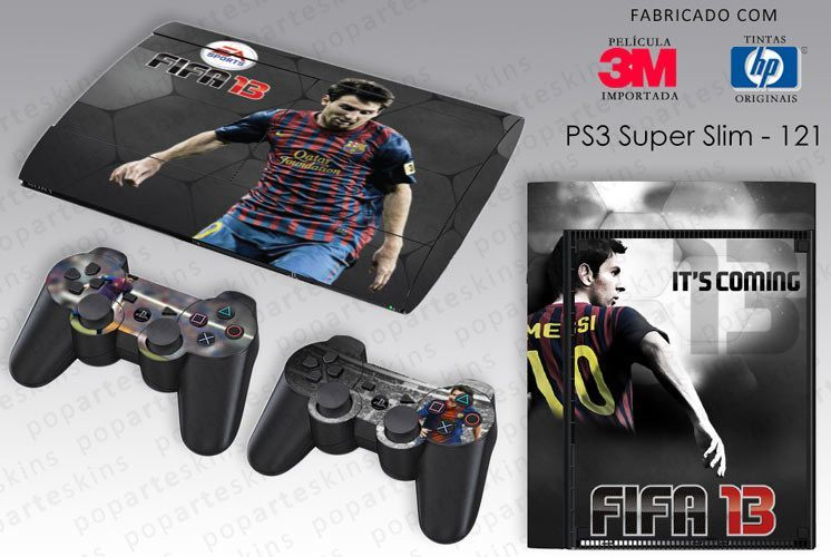 PS3 SUPER SLIM SKIN - PS3 SUPER SLIM SKIN - FIFA 13 - Pop Arte Skins Adesivos