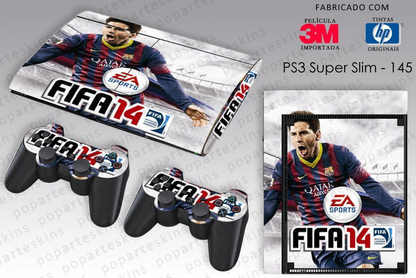 PS3 SUPER SLIM SKIN - PS3 SUPER SLIM SKIN - FIFA 14 - Pop Arte Skins Adesivos