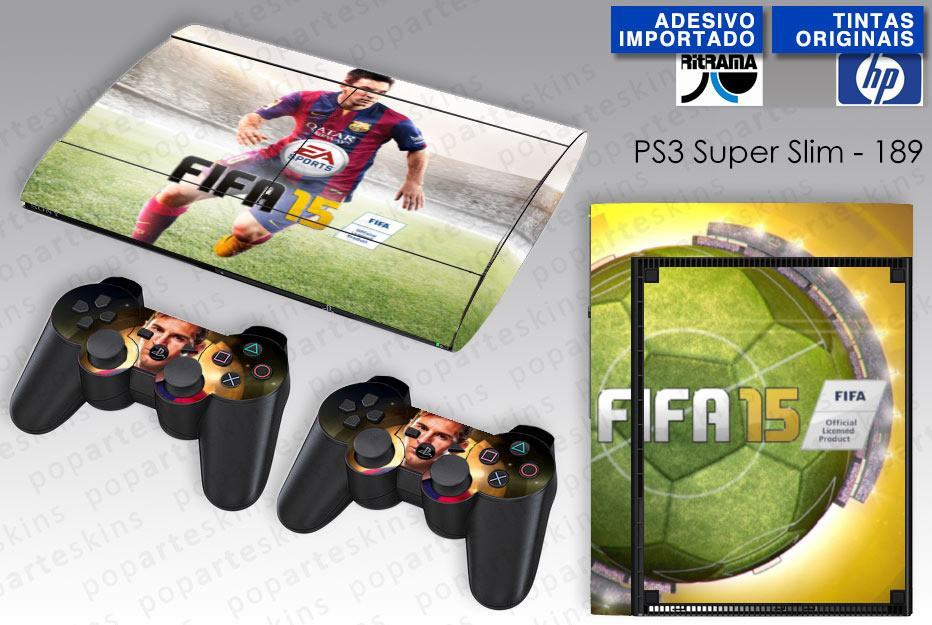 PS3 SUPER SLIM SKIN - PS3 SUPER SLIM SKIN - FIFA 15 - Pop Arte Skins Adesivos
