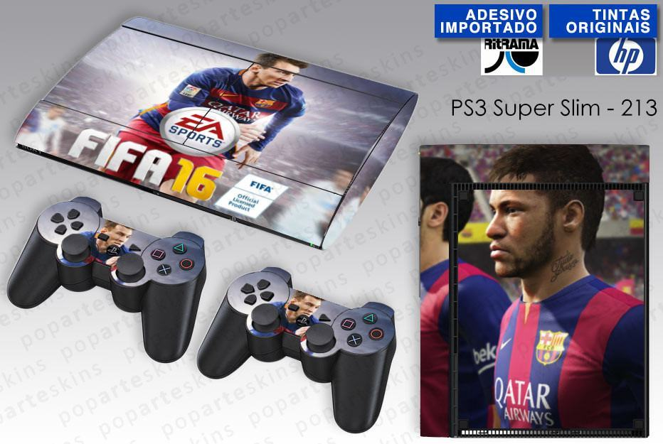 PS3 SUPER SLIM SKIN - PS3 SUPER SLIM SKIN - FIFA 16 - Pop Arte Skins Adesivos