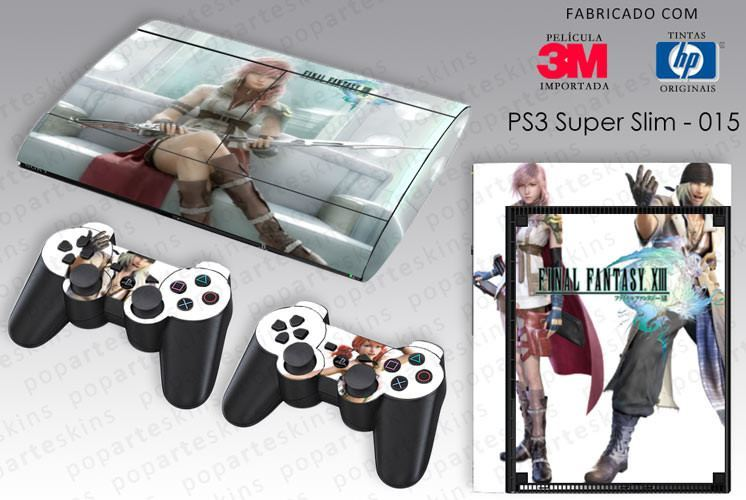PS3 SUPER SLIM SKIN - PS3 SUPER SLIM SKIN - Final Fantasy XIII - Pop Arte Skins Adesivos