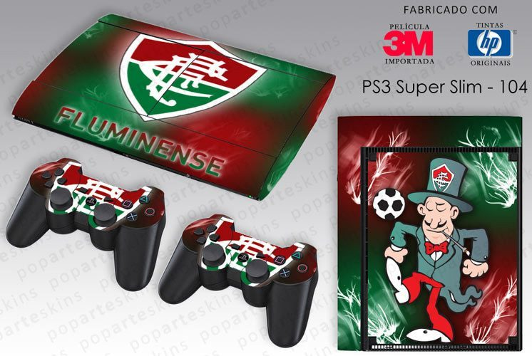 PS3 SUPER SLIM SKIN - PS3 SUPER SLIM SKIN - Fluminense - Pop Arte Skins Adesivos