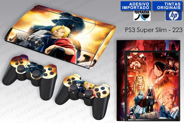 PS3 SUPER SLIM SKIN - PS3 SUPER SLIM SKIN - Fullmetal Alchemist: Brotherhood - Pop Arte Skins Adesivos