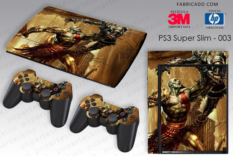 PS3 SUPER SLIM SKIN - PS3 SUPER SLIM SKIN - God of War 3 - Pop Arte Skins Adesivos