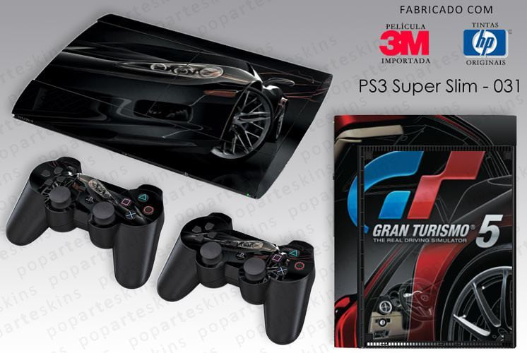 PS3 SUPER SLIM SKIN - PS3 SUPER SLIM SKIN - Gran Turismo - Pop Arte Skins Adesivos