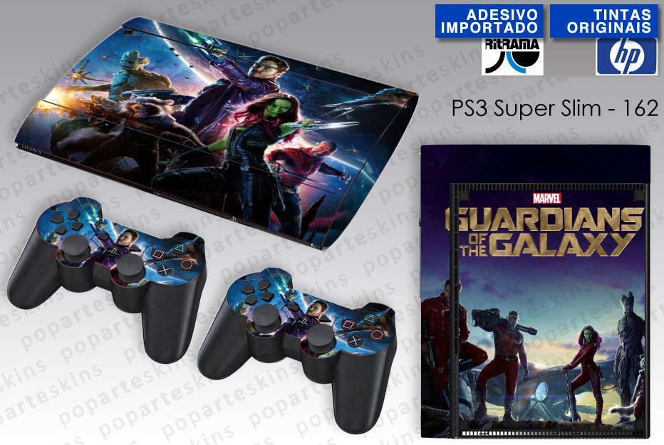 PS3 SUPER SLIM SKIN - PS3 SUPER SLIM SKIN - Guardioes da Galaxia - Pop Arte Skins Adesivos