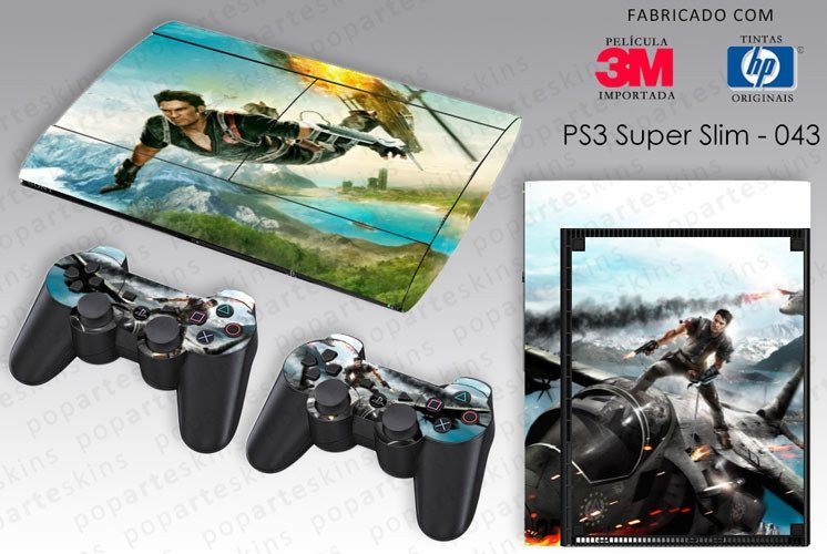 PS3 SUPER SLIM SKIN - PS3 SUPER SLIM SKIN - Just Cause 2 - Pop Arte Skins Adesivos