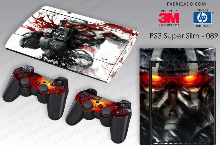 PS3 SUPER SLIM SKIN - PS3 SUPER SLIM SKIN - Killzone 3 - Pop Arte Skins Adesivos