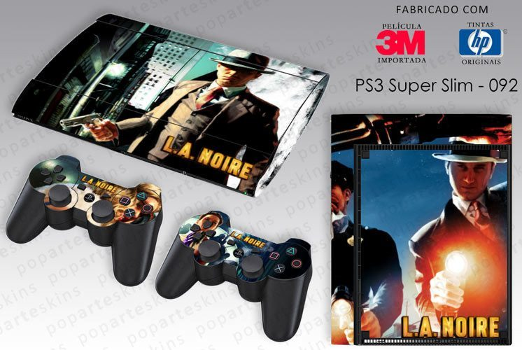 PS3 SUPER SLIM SKIN - PS3 SUPER SLIM SKIN - L.A. Noire - Pop Arte Skins Adesivos