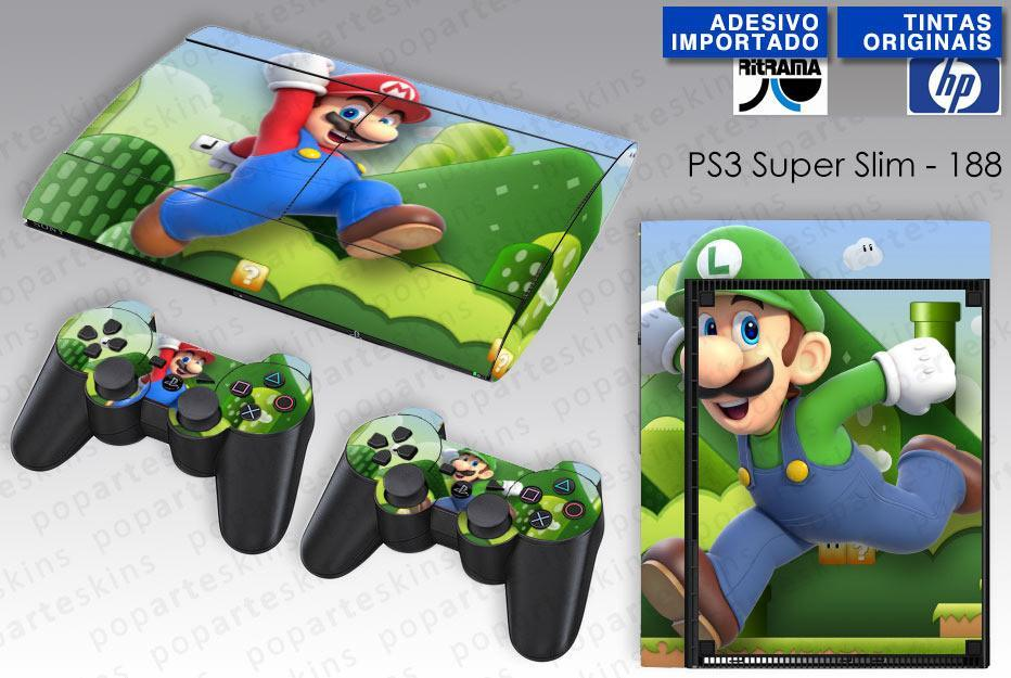 PS3 SUPER SLIM SKIN - PS3 SUPER SLIM SKIN - Mario & Luigi - Pop Arte Skins Adesivos