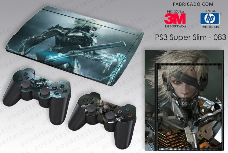 PS3 SUPER SLIM SKIN - PS3 SUPER SLIM SKIN - Metal Gear Solid Rising - Pop Arte Skins Adesivos