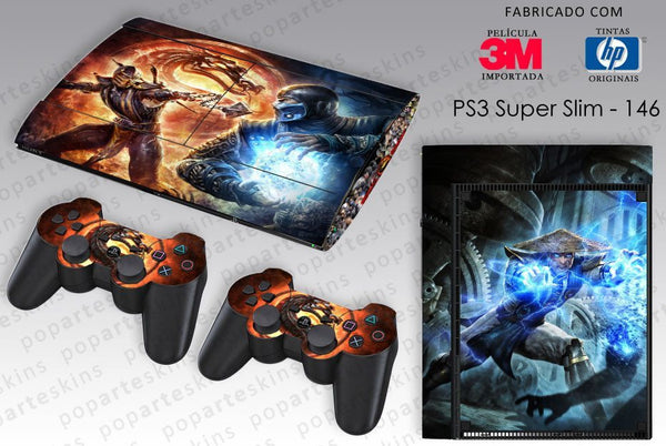 PS3 SUPER SLIM SKIN - PS3 SUPER SLIM SKIN - Mortal Kombat - Pop Arte Skins Adesivos