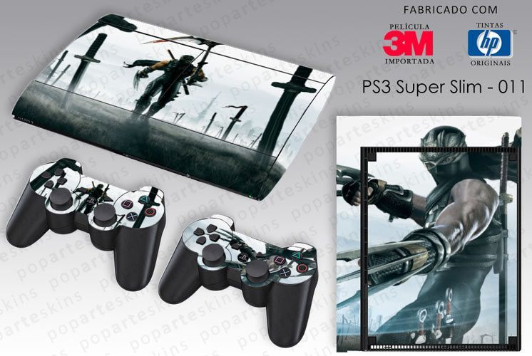 PS3 SUPER SLIM SKIN - PS3 SUPER SLIM SKIN - Ninja Gaiden 2 - Pop Arte Skins Adesivos
