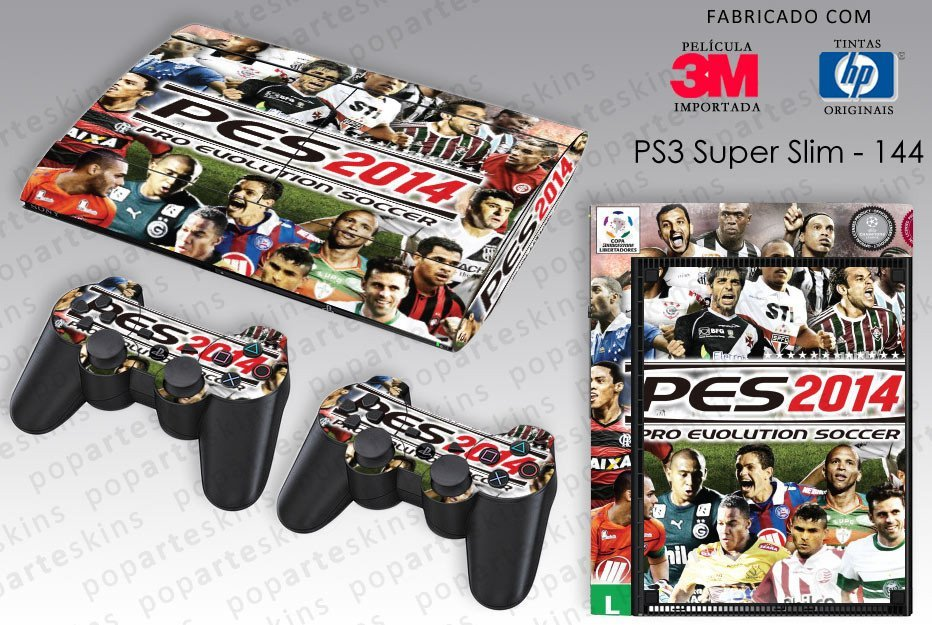 PS3 SUPER SLIM SKIN - PS3 SUPER SLIM SKIN - PES 2014 - Pop Arte Skins Adesivos