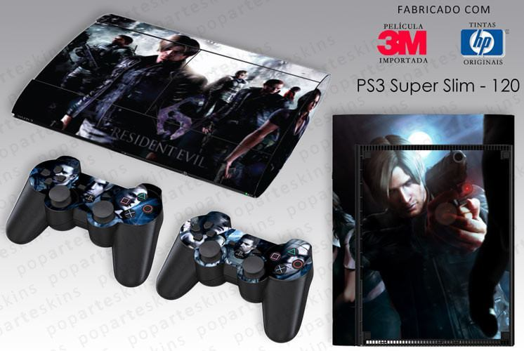 PS3 SUPER SLIM SKIN - PS3 SUPER SLIM SKIN - Resident Evil 6 - Pop Arte Skins Adesivos