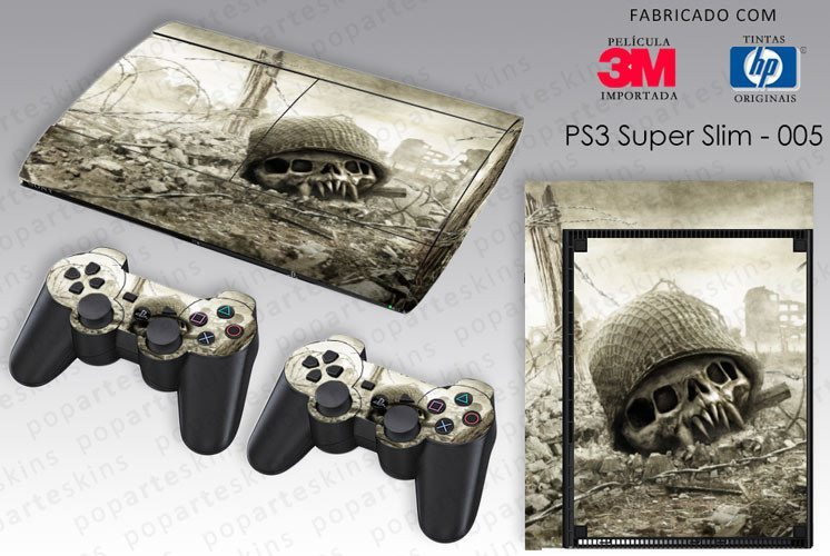 PS3 SUPER SLIM SKIN - PS3 SUPER SLIM SKIN - Resistance Fall of Man - Pop Arte Skins Adesivos