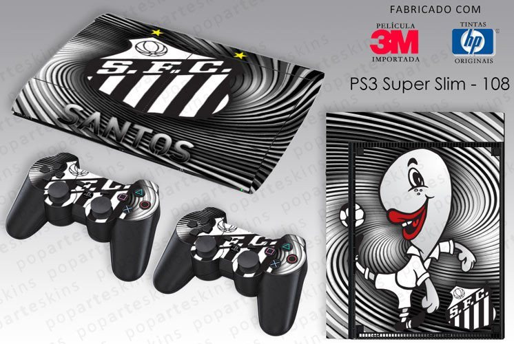 PS3 SUPER SLIM SKIN - PS3 SUPER SLIM SKIN - Santos - Pop Arte Skins Adesivos