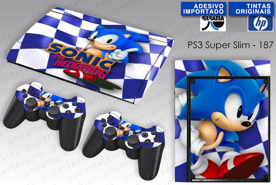 PS3 SUPER SLIM SKIN - PS3 SUPER SLIM SKIN - Sonic The Hedgehog - Pop Arte Skins Adesivos