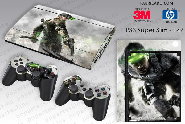 PS3 SUPER SLIM SKIN - PS3 SUPER SLIM SKIN - Splinter Cell Blacklist - Pop Arte Skins Adesivos