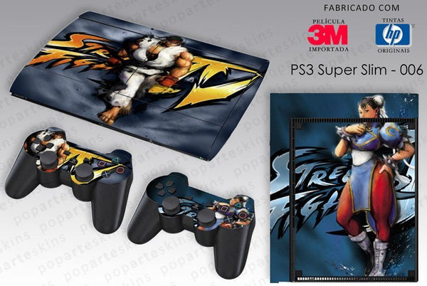 PS3 SUPER SLIM SKIN - PS3 SUPER SLIM SKIN - Street Fighter 4 - Pop Arte Skins Adesivos