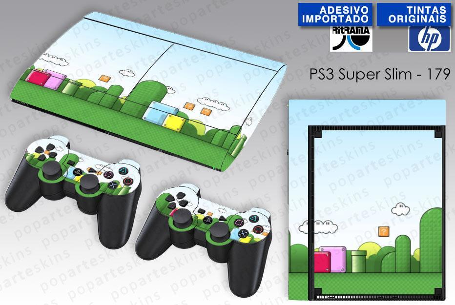 PS3 SUPER SLIM SKIN - PS3 SUPER SLIM SKIN - Super Mario Bros. - Pop Arte Skins Adesivos