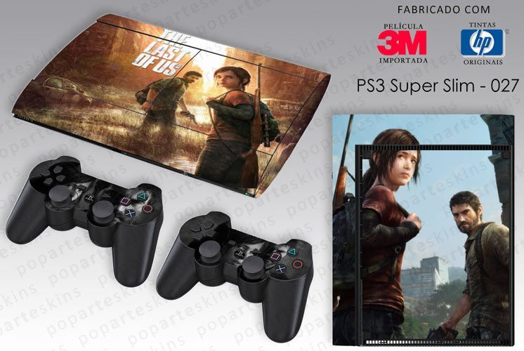 PS3 SUPER SLIM SKIN - PS3 SUPER SLIM SKIN - The Last of Us - Pop Arte Skins Adesivos